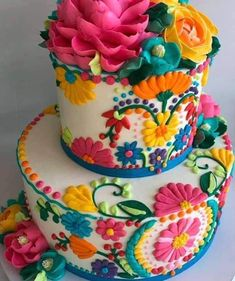 Pretty Cakes, Cute Cakes, Beautiful Cakes, Amazing Cakes, White Flower Cake Shoppe, Mexican Birthday Parties, Birthday Kids, Fancy Cakes, Creative Cakes