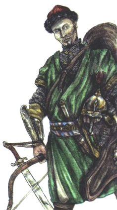 Siberian Khanate infantryman, 16th century
