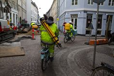Land surveyors by bike. I would have been into this.