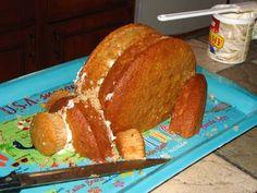"""Vegetarian Pig Roast"" - a sculpted cake tutorial. Cupcake Cake Designs, Cupcake Cakes, Cupcakes, Pig Roast Party, Pig Birthday Cakes, 3rd Birthday, Piggy Cake, Luau Cakes, Luau Food"