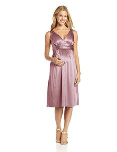 ef446c866dc Ripe Maternity Women s Maternity Deluxe Satin Dress