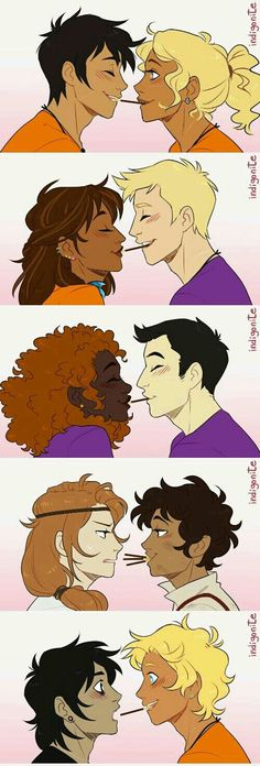 Helden des Olymp - Percabeth, Jasper, Frazel, and Caleo