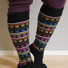 Peruspolvisukat ohjeineen - LANKAHELVETTI Leg Warmers, Socks, Legs, Accessories, Fashion, Leg Warmers Outfit, Moda, Fashion Styles, Sock