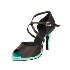 Satén de las mujeres personalizadas con estilo superior zapatos de baile latino – USD $ 34.99