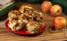 Crazy Caramel Apple Pie Bombs (Break a hot one open & the caramel & apples flow like a river out of the pie.)