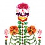 A Japanese Ad Agency Reinvents Advertising for Funeral Services. This figure of a skeleton made with pressed flowers that overtly celebrates the cycle of life by introducing color and elements of nature that are often avoided in such services. The image was considered so successful it went on to win a design merit award from the 2013 One Club Awards.