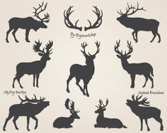 #clipart #antlers #silhouettes #deers