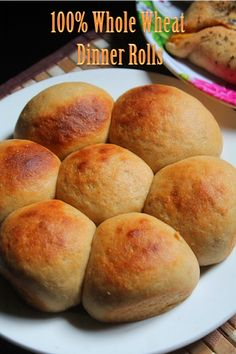 YUMMY TUMMY: 100% Whole Wheat Dinner Rolls Recipe - Dinner Rolls Without Eggs