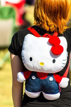 Hello Kitty plush backpack!