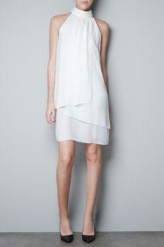 1f95b44dd9d Crisp white Zara dress on a beach somewhere  r29summerstyle White Halter  Dress