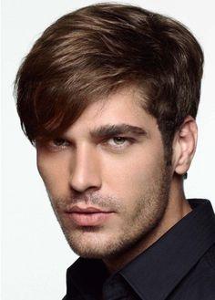 Peinados para hombre de pelo lacio (liso) + flequillo de corte diagonal : Dream's Estilistas. Tu blog de peluqueria, moda y tendencias.