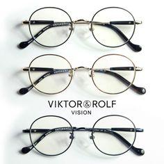 VIKTOR&ROLF ヴィクター&ロルフ オーバルメタルフレーム メガネ 度付き 伊達 70-0148