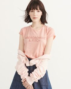 Abercrombie & Fitch Embroidered Logo Tee