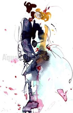 boho wedding watercolor illustration inspiration for wedding invitations save the date favors handmade - Faire Part Mariage Etsy