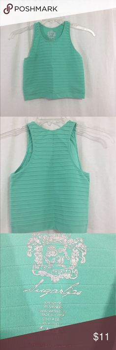 Sugarlips mint green stretch crop top Size small sugar lips Tops Crop Tops