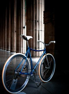 blue fixie, bike, cycl fixi