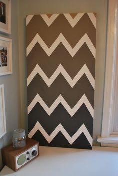 DIY wall decor in ombré and chevron! @talorboone this is really cool!