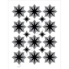 Joggles Stencils - Star Flowers Duo [20-33710] designed by Margaret Applin