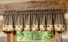 Kitchen window curtains should be sill length, and they can be tiers with swags or valances to match. Description from everything-log-homes.com. I searched for this on bing.com/images