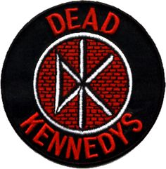 """DEAD KENNEDYS (DK logo on black) - Embroidered Iron On or Sew On Patch (3"""" x 3"""") - $4.48 - 1-LPT-9625 - Punk Rock Legends"""