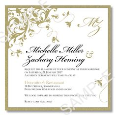 wedding invitation - tree/curly qs