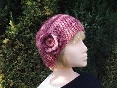 Chunky Crocheted Hat in Pinks and  Reds by GreatGreenDreams, £12.00