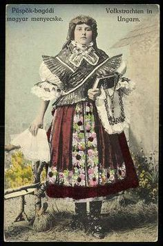 Püspökbogádi; Magyar menyecske | Képeslapok | Hungaricana Art Costume, Folk Costume, Folk Music, People Of The World, World Cultures, Vintage Photos, Style Inspiration, Traditional, Boho