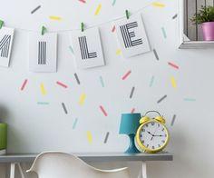 Confetti Strips (sticker preview) Confetti, Wall Decals, Sticker, Range, Pattern, Kids, Home Decor, Young Children, Cookers