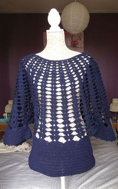 crochet love this but would wear another shirt under it.