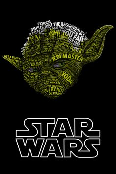Star Wars Typo Portraits Yoda pic on Design You Trust