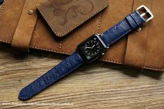 Ostrich Belly Leather Watch Strap for Panerai or Apple Watch 1 and 2 #applewatchedition #iphone #iphoneonly #iphone6plus #iphonedaily #iphoneology #instatime #instawatches #dailywatch #iphoneography #womw #watches #wornandwound