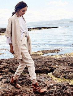 Two Pieces Cotton Linen Suit Sets – colintime Linen Suit, Linen Pants, Linen Jackets, Trouser Suits, Mode Vintage, Two Piece Dress, Fashion Labels, Two Pieces, Cotton Linen