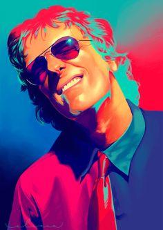 Spinetta on Behance Glam Rock, Rock Bands, Rock And Roll, Hard Rock, Stoner Art, Beach Rocks, Music Stuff, Art Music, Album Covers