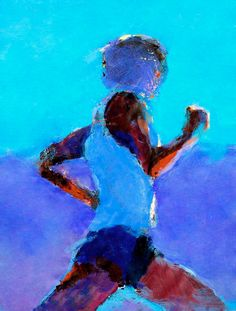 Art of Kuzma Running Art, Art Folder, Art Walk, A Level Art, Ap Art, Expo, Sports Pictures, Sports Art, Colorful Paintings