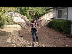 She Built Herself Actual Wings For Halloween, Wait Till You See The Demo. - http://www.sqba.co/videos/she-built-herself-actual-wings-for-halloween-wait-till-you-see-the-demo/