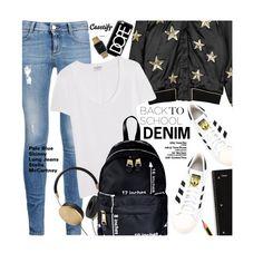 """Denim Guide: Stella McCartney"" by honii ❤ liked on Polyvore featuring Zoe Karssen, Casetify, STELLA McCARTNEY, adidas, Frame Denim, Frends, Moschino, BackToSchool and StellaMcCartney"