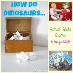How Do Dinosaurs...Social Skills Game (with free printable!) Books become even better when you pair them with fun activities!  See what we did to go along with this month's Monthly Crafting  How Do Dinosaurs...  Book Club selections!