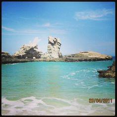 Klayar coral beach