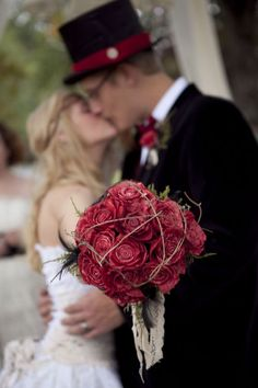 Vintage #burgundy #bouquets … Wedding #ideas for brides, grooms, parents & planners https://itunes.apple.com/us/app/the-gold-wedding-planner/id498112599?ls=1=8 … plus how to organise an entire wedding, within ANY budget ♥ The Gold Wedding Planner iPhone #App ♥ For more inspiration http://pinterest.com/groomsandbrides/boards/ #bridesmaids #bridal #bouquets #wedding #flowers #maroon