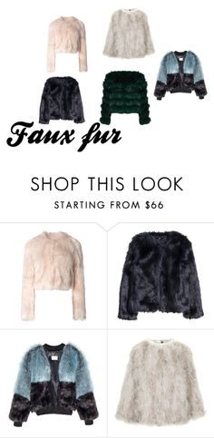"""""""faux fur"""" by jkajsa on Polyvore featuring RED Valentino, H&M, Topshop and Alice + Olivia"""