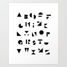 ABC Art Print by Mareike Böhmer Graphics And Photography - $20.00