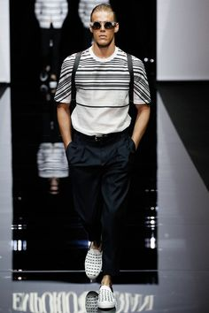 TREND LISTRADOS  Emporio Armani Spring-Summer 2015 Men's Collection