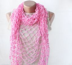 A #crocheted shawl like this one is nice and dainty to wear for just about any occasion. It's nice and light too.