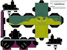 Beast Boy - papercraft / cubeecraft by MarcoKobashigawa