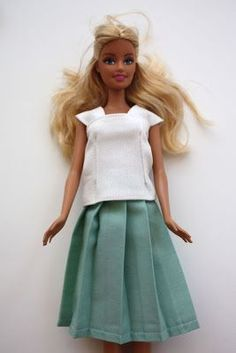 barbie clothes~ no pattern but good ideas