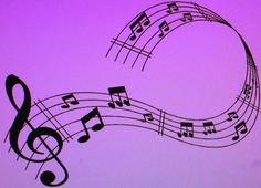 Black Vinyl Musical Notes Wall Decal by LoveToCraft09 on Etsy