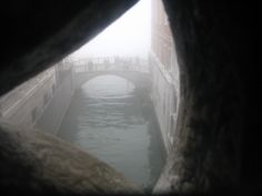 Venice is great in Winter, especially with the early mist still in. This is a view from the Bridge of Sighs in mid February.