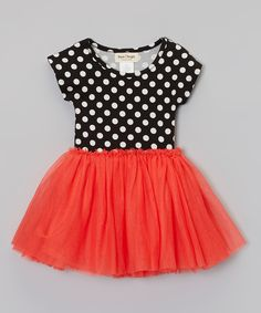 Red & Black Polka Dot Dress - Toddler & Girls | Daily deals for moms, babies and kids