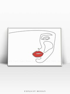 Lips Sketch, Face Sketch, Beauty Illustration, Human Face Drawing, Drawing Faces, Single Line Drawing, Minimalist Beauty, Art Abstrait, Woman Face