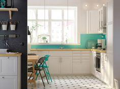 Fehér elegáns Metod konyha Ikea
